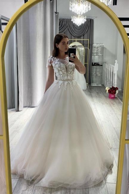 Designer wedding dress A line | Wedding dress tulle