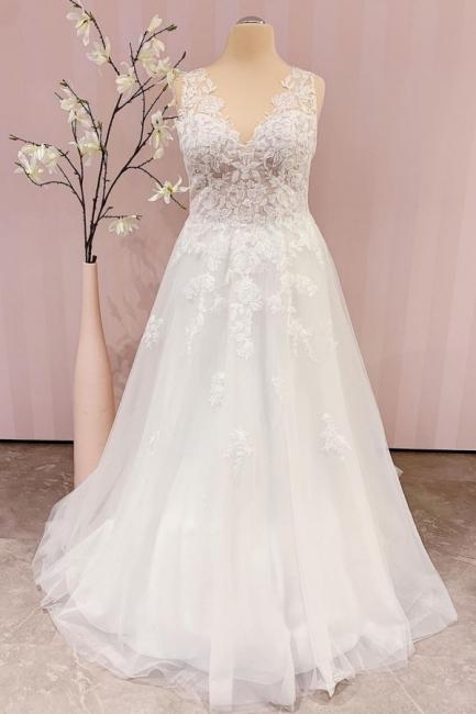 Simple wedding dress A line | Boho wedding dresses