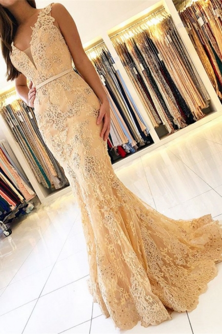 Elegant evening dresses with lace | Prom dresses long cheap