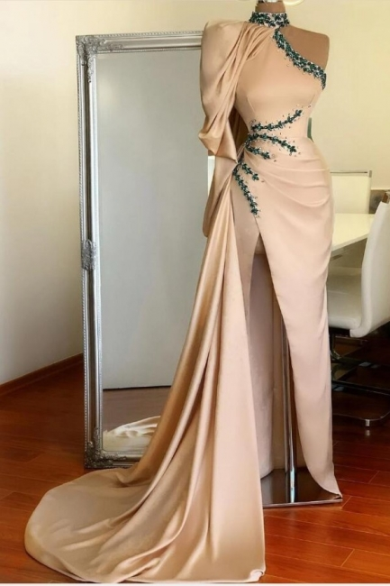 Designer Prom Dresses Long Cheap | Evening dress with sleeves