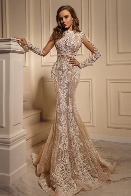 Wedding dresses with sleeves | Mermaid lace wedding dress