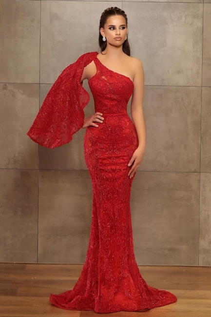 Prom dress long red | Evening dress with glitter