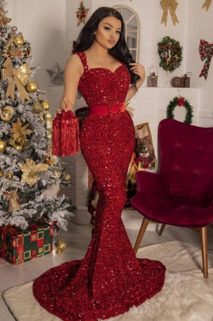 Red prom dress long | Prom dresses with glitter