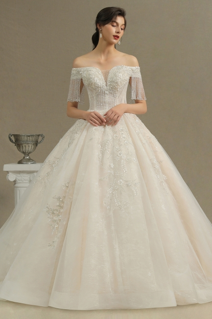 Elegant wedding dresses A line | Wedding dresses with sleeves
