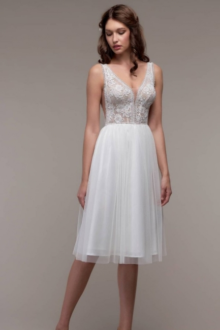 Simple wedding dress cheap | Beach wedding dress with lace