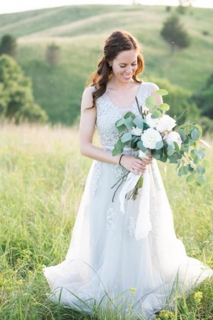 Elegant Evening Dresses Long V Neck | Prom dresses with lace