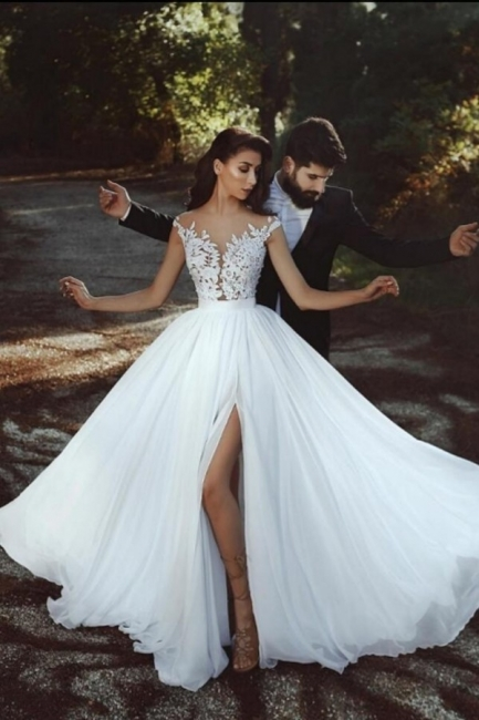Cheap Summer Beach Boho Wedding Dresses With Lace