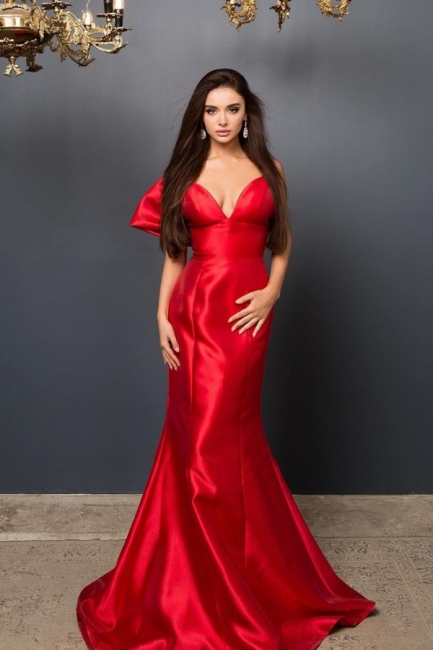 Elegante Abendkleider Lang Rot | Abendmoden Online Kaufen