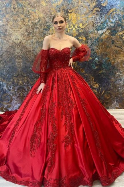 Luxury wedding dresses red   Buy princess wedding dresses online