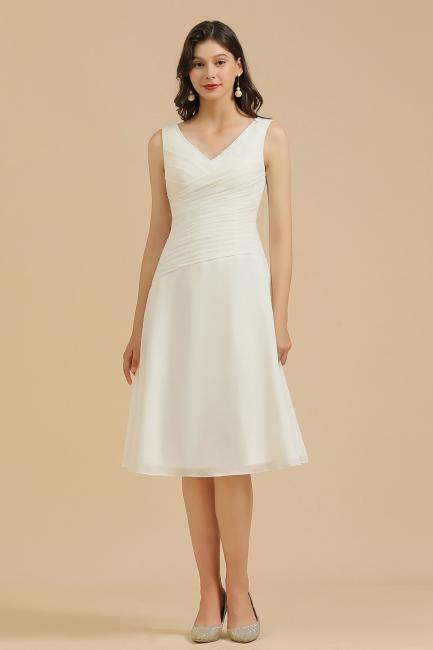 Simple bridesmaid dresses white | Short dresses for bridesmaids