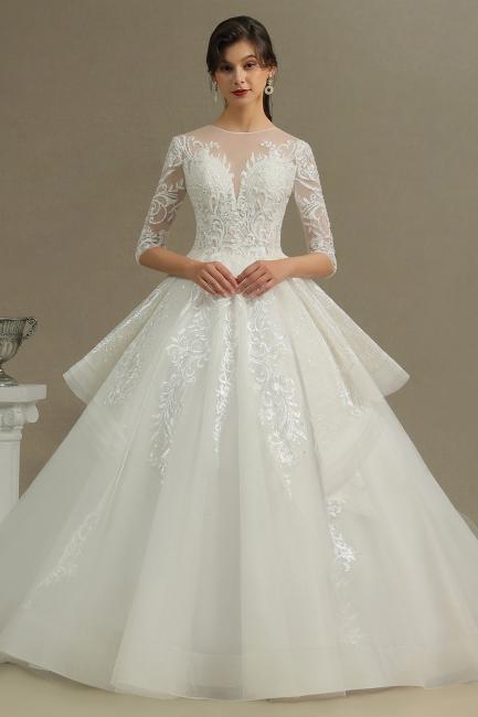 Hochzeitskleid Standesamt A Linie | Brautkleider mit Ärmel