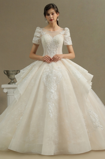 Extravagant wedding dresses A line | Wedding dresses with lace