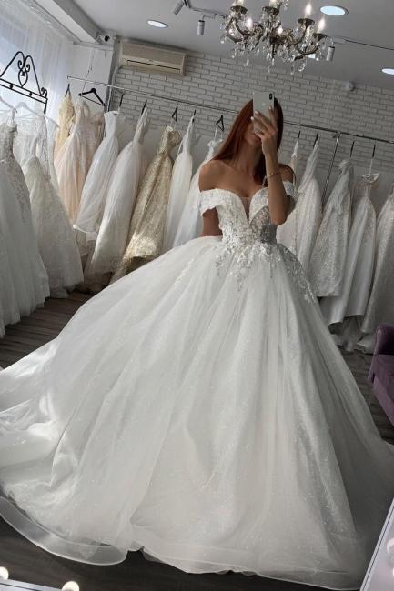 Schöne Hochzeitskleider Weiß   Brautkleider Prinzessin Kuafen