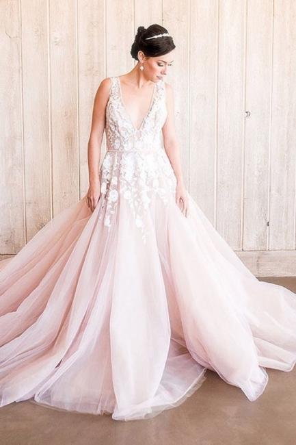Designer Brautkleider A Linie | Hochzeitskleider Blush Pink