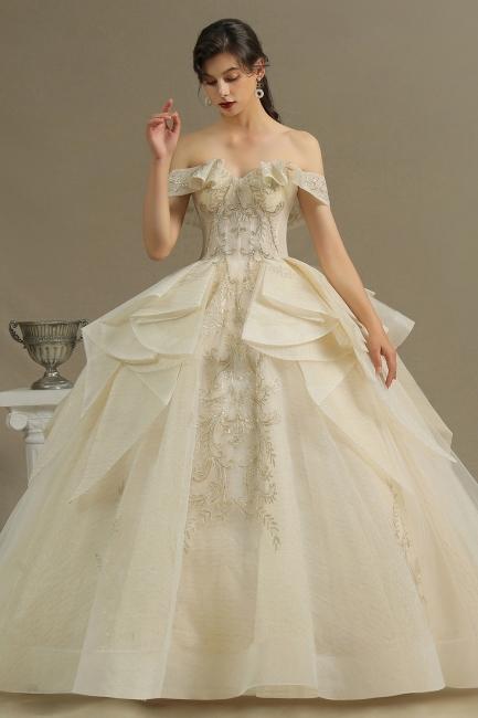 Elegante Hochzeitskleider Prinzessin | Brautkleider mit Spitze