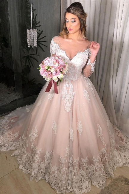 Gorgeous Wedding Dresses With Sleeves | Wedding dresses a line lace