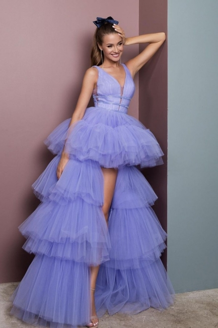 Evening dress long V neckline | Prom Dresses Cheap Online