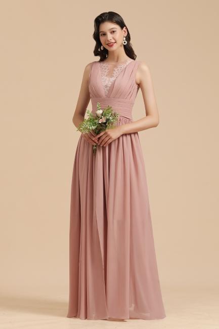 Bridesmaid Dresses Long Dusty Pink | Chiffon dresses cheap online