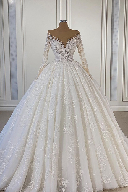 Extravagant wedding dresses with sleeves | Wedding dresses A line