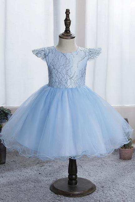 Simple flower girl dress blue | Children's dresses for flower girls