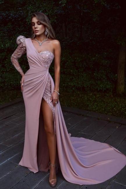 Elegante Abendkleider Lang Rosa | Abiballkleider mit Spitze