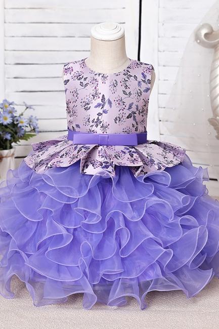 Purpur Kinder Kleider für Blumenmädchen | Blumenmädchenkleider Günstig