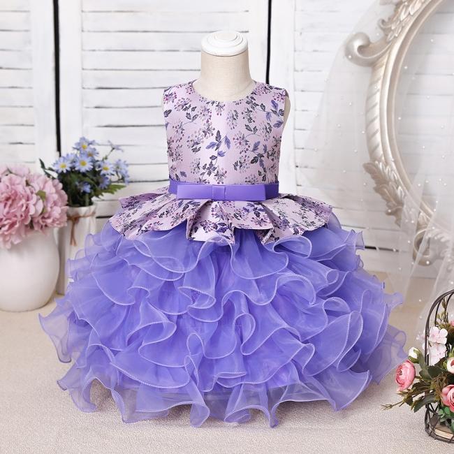 Purpur Kinder Kleider für Blumenmädchen   Blumenmädchenkleider Günstig