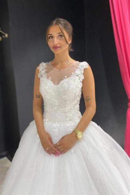 Prinzessin Hochzeitskleider mit Spitze | Günstige Brautkleider