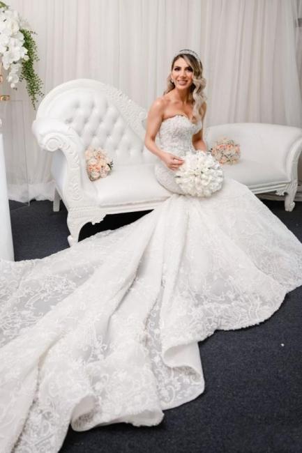 Luxury wedding dresses mermaid lace | Beautiful wedding dresses