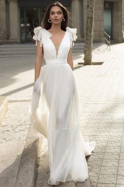 Schlichtes Hochzeitskleid | Creame Brautkleider Günstig