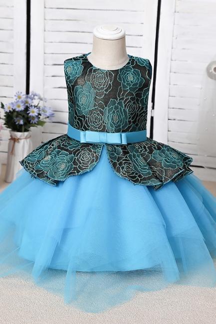 Blue Flower Girl Dresses Cheap | Lace kids dresses