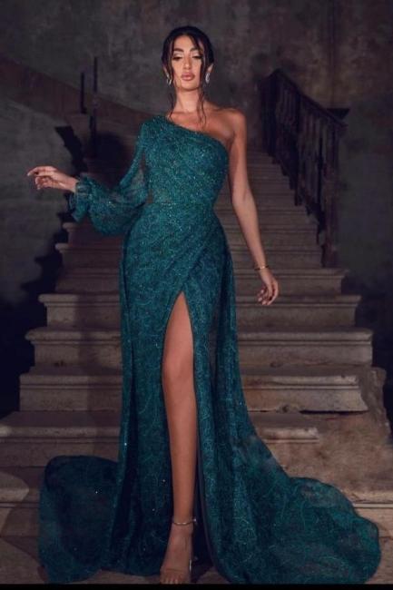 Prom dresses dark green | Evening dresses long lace