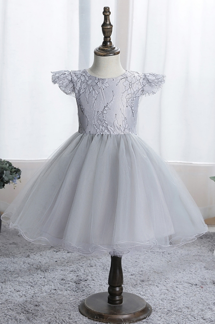 Schlichtes Blumenmädchenkleid Blau | Kinder kleider Für Blumenmädchen