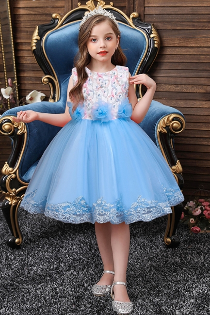 Beautiful blue flower girl dresses | Children's dresses cheap