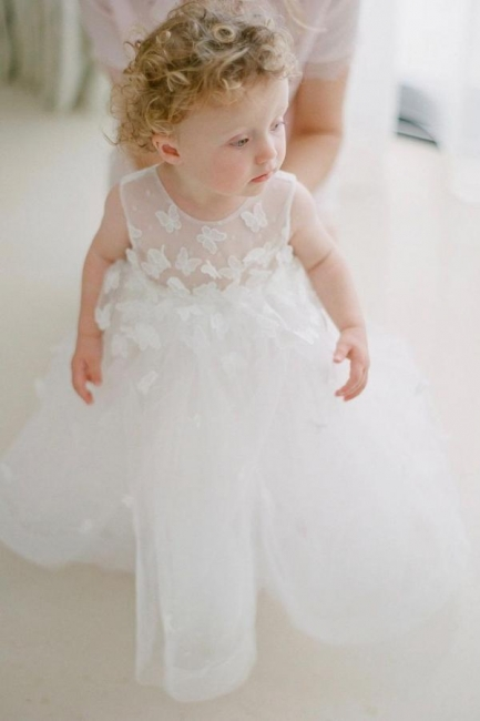 Children's wedding dresses with lace | Flower girl dresses cheap