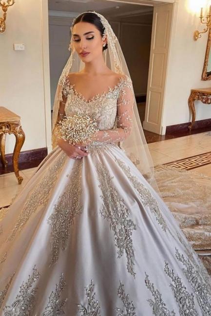 Extravagant wedding dresses princess | Wedding dresses with sleeves