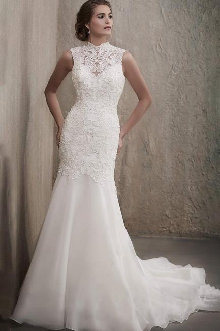 Elegante Brautkleider Meerjungfrau Spitze | Hochzeitskleider Online Kaufen
