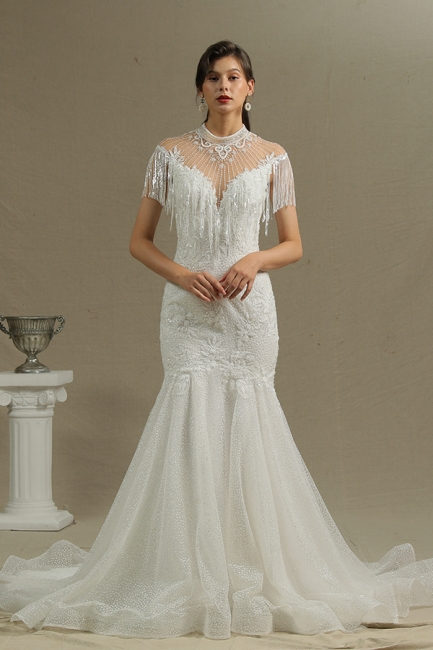 Wunderschöne Hochzeitskleider Meerjungfrau Spitze   Brautkleider Luxus