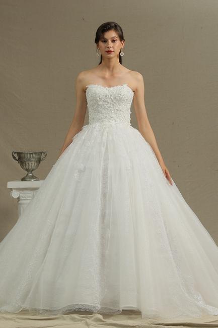 Brautkleider Prinzessin | Tüll Hochzeitskleider mit Spitze