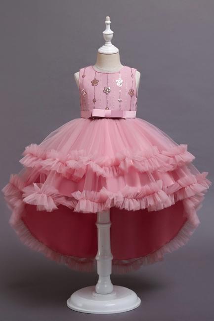 Prinzessin Blumenmädchenkleider Rot   Kinder Kleider zur Hochzeit