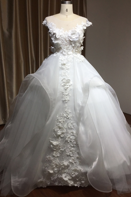 Gorgeous wedding dresses A line | Cheap tulle wedding dresses