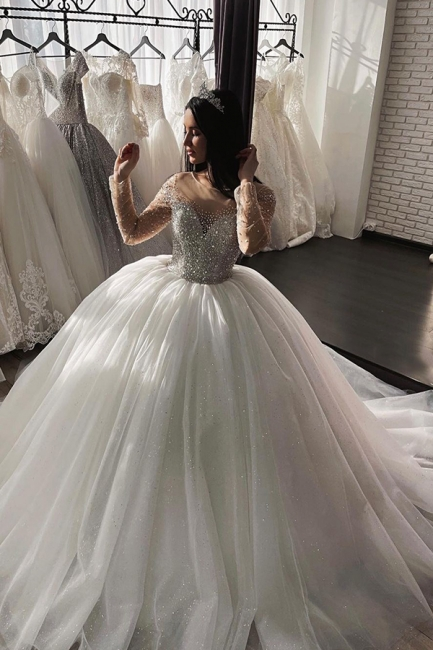Beautiful wedding dresses princess | Cheap tulle wedding dresses