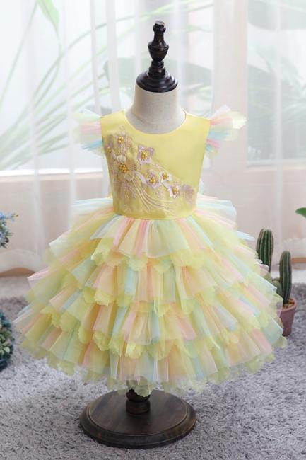 Yellow children's dresses for wedding | Flower girl dresses cheap