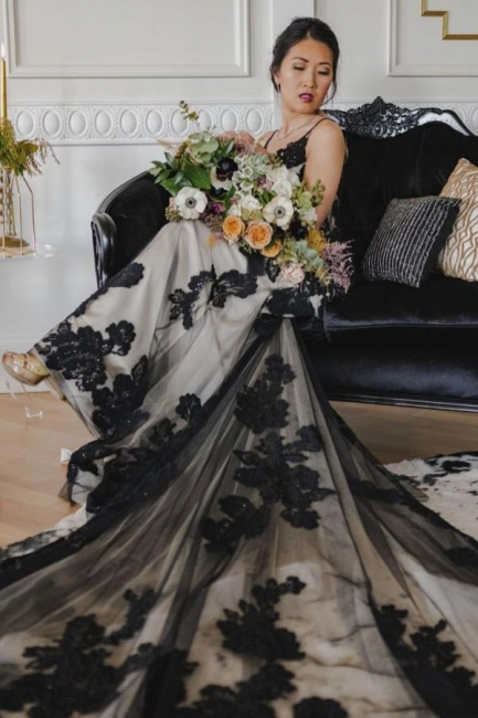 Beautiful wedding dresses black | Wedding dresses mermaid lace