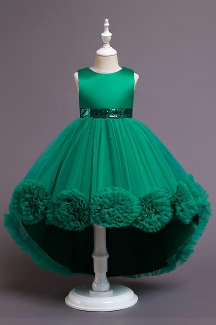Grüne Blumenmädchenkleider Günstig | Kleider Für Blumenmädchen