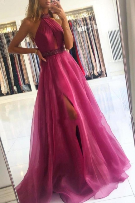 Fuchsia Abendkleider Lang Günstig | Abiballkleider Günstig Online
