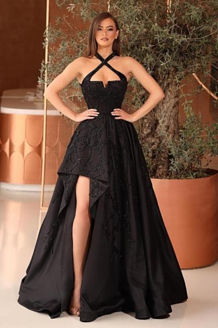 Schwarze Abendkleider Lang Glitzer | Abiballkleider Günstig Kaufen