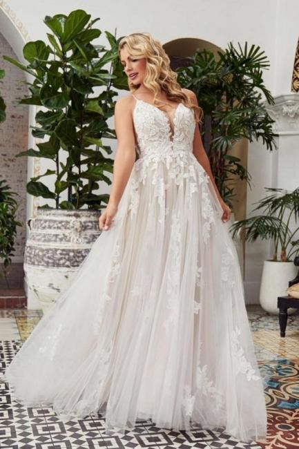 Simple wedding dress A line lace | Bridal fashion cheap