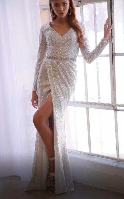Elegant evening dresses long glitter   Prom Dresses Cheap Online