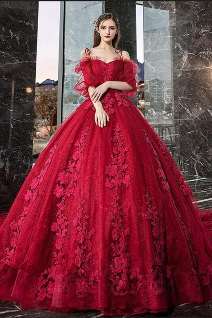 Gorgeous evening dresses with lace | Prom dresses prom dresses red